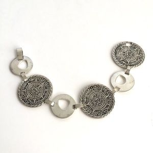 Vintage Aztec Sterling Silver Bracelet Mexican